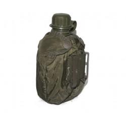Österr. Armee Feldflasche (alu) mit K4 Tarn Bezug (gebr.)