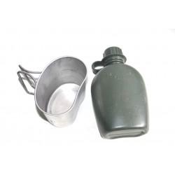 NL Feldflasche mit Becher und Hülle (gebr.)